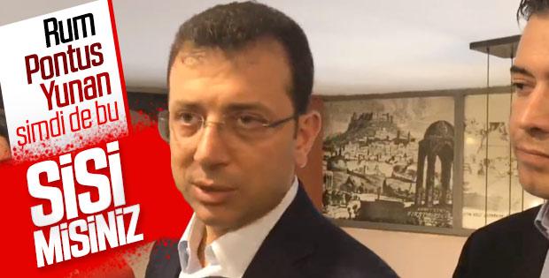 İmamoğlu, Erdoğan'ın 'Sisi' benzetmesine cevap verdi