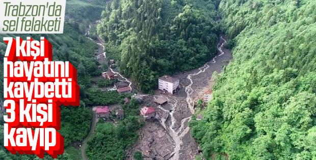 Trabzon'da sel: 7 ölü 3 kişi kayıp