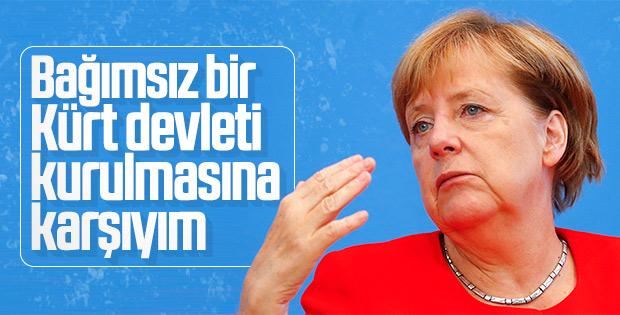 Merkel bağımsız bir Kürt devleti kurulmasına karşı
