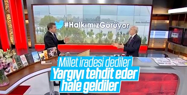 Kılıçdaroğlu, 'Yargı önünü kesebilir' sözüne cevap verdi