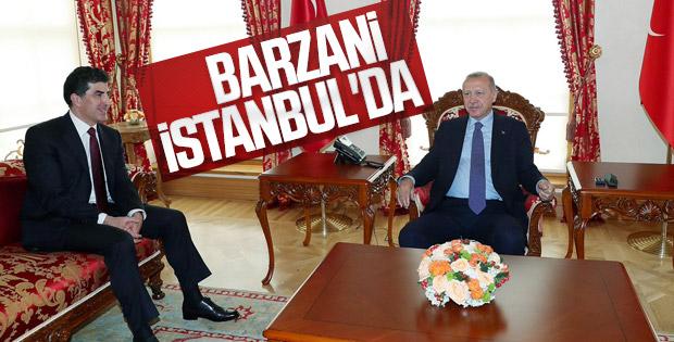 Cumhurbaşkanı Erdoğan ile Barzani'nin görüşmesi sona erdi