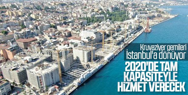 Salıpazarı Kruvaziyer Limanı'nda sona yaklaşıldı