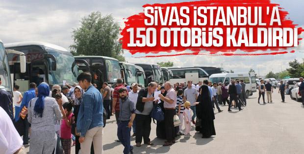 Sivaslılar oy için İstanbul'a geliyor