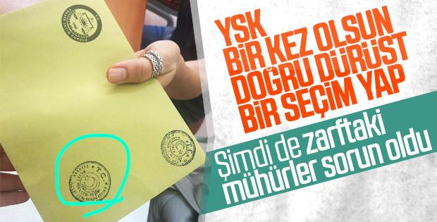 Zarflardaki milletvekili seçimi mührü için başvuru