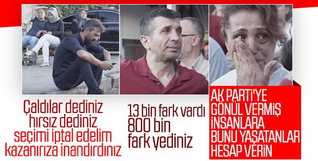 AK Partililer İstanbul İl Başkanlığı önünde gözyaşı döktü