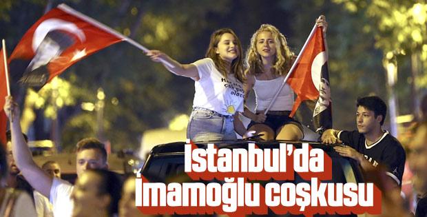 İstanbul'da Ekrem İmamoğlu kutlaması