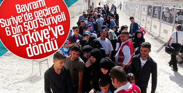 Suriyelilerin Türkiye'ye dönüşü sürüyor