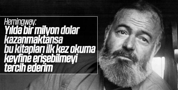 Ernest Hemingway'in özel okuma listesi