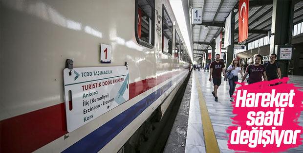 Ankara-Kars-Ankara hattının saatlerinde değişiklik