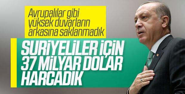 Erdoğan, Suriyeliler için harcanan miktarı açıkladı