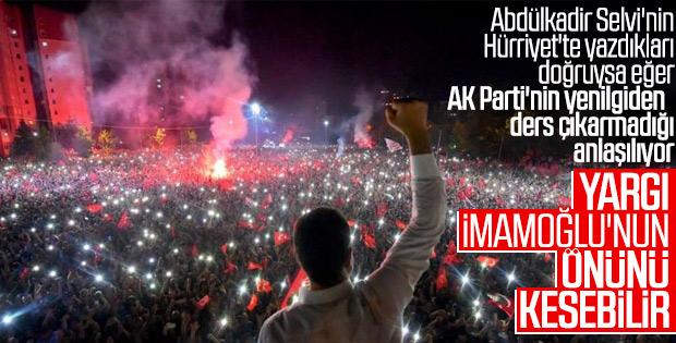 Erdoğan'a göre yargı İmamoğlu'nun önünü kesebilir