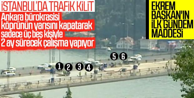 Ekrem İmamoğlu'ndan köprü trafiği açıklaması