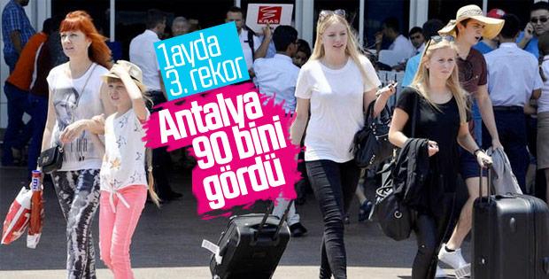 Antalya turist rekoruna yenisini ekledi