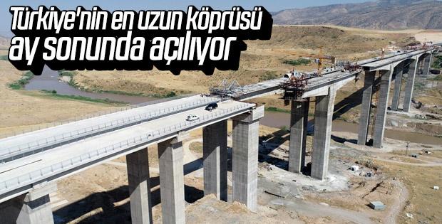 Hasankeyf-2 Köprüsü'nün tamamlanmasına son 30 metre