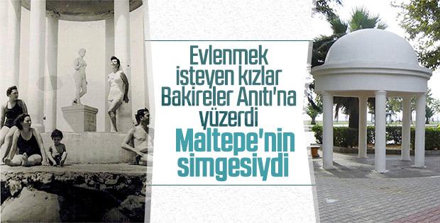 Maltepe'nin eski sembolü Bakireler Anıtı