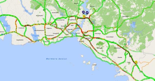 İstanbul'un trafik yoğunluğunda son durum