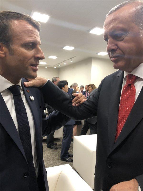 Erdoğan, Macron ile yaptığı görüşmeyi anlattı