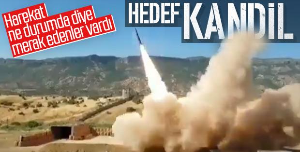 Sınır ötesinde terör hedeflerine füze atışı