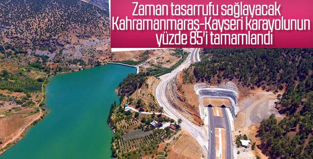 Kahramanmaraş-Kayseri karayolunda çalışmalar sürüyor