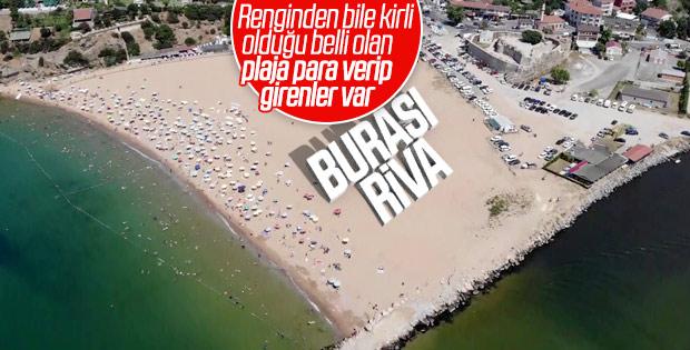 İstanbullular hafta sonunu Riva plajlarında geçirdi