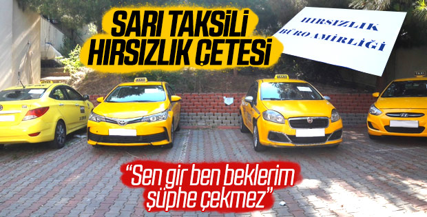 İstanbul'da ticari taksili hırsızlık şebekesi çökertildi