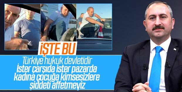 Bakan Gül'den hamile kadının aracına saldırı açıklaması