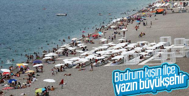 Bodrum'un nüfusu yaz mevsiminde 1 milyon