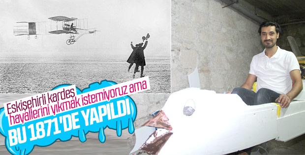 Eskişehir'de uçma hayali için mikrolayt tasarladı