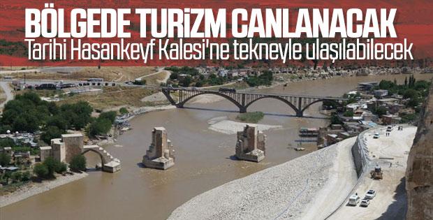 Tarihi Hasankeyf Kalesi'ne ulaşım tekneyle sağlanacak