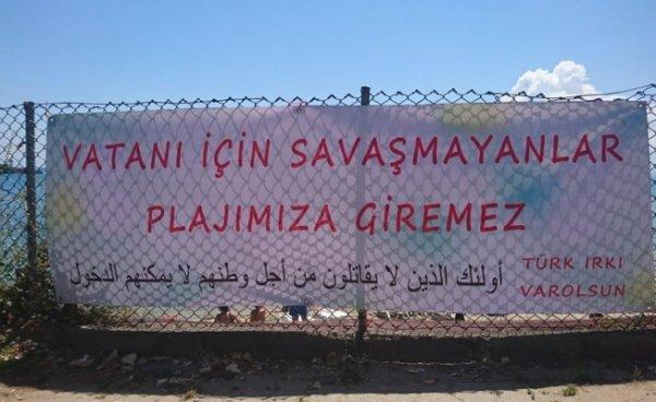 Sinop'ta Suriyelilere plaj tepkisi