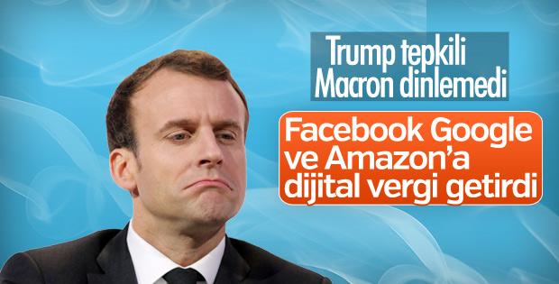 Fransa'dan Amerikan şirketlere vergi