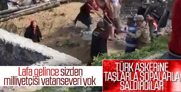 Gümüşhane'de yaylacılar askerlere saldırdı