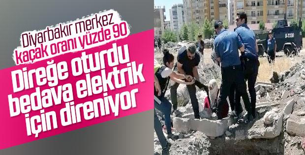 Diyarbakır'da kaçak elektrik gerilimi