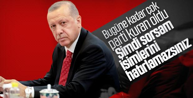 Cumhurbaşkanı Erdoğan'ın yeni parti yorumu
