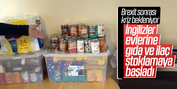 Brexit'e karşı yiyecek, ilaç ve giysi depolanıyor