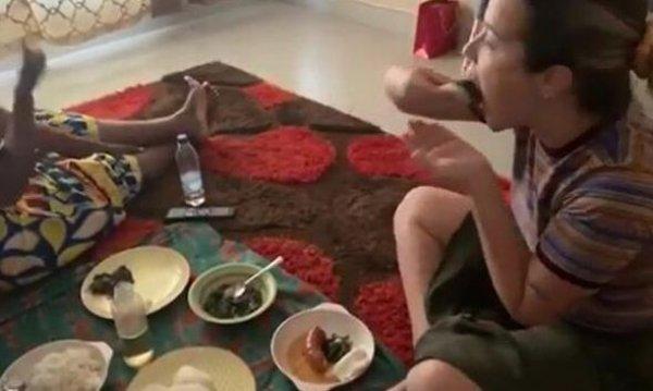 Selami Şahin'in kızı, siyahi sevgiliyle Zambiya'ya gitti