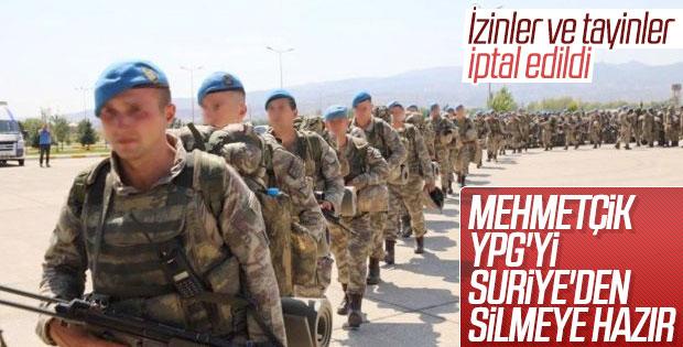 Sınır birliklerinde izinler iptal edildi
