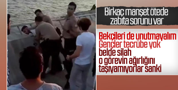 İzmir'de bekçilerin gözaltı işlemi tepki çekti