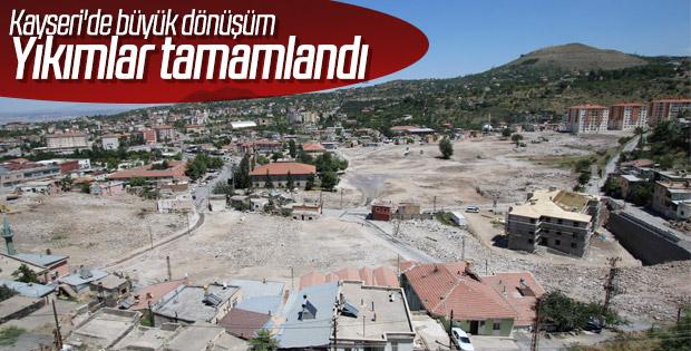 Kayseri'de kentsel dönüşüm çalışmaları sürüyor