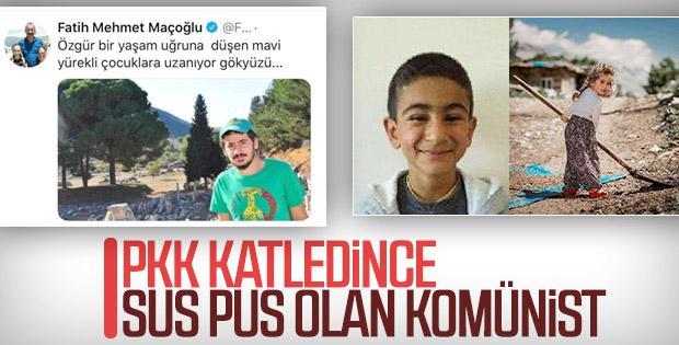Komünist Fatih Maçoğlu, PKK'nın katliamına sessiz