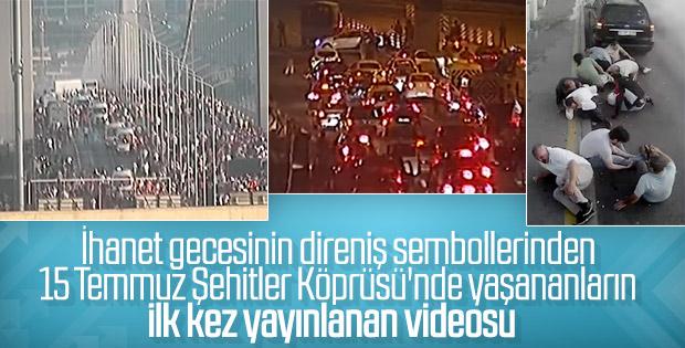 15 Temmuz Köprüsü'ndeki darbeci askerlerin kaçma görüntüsü