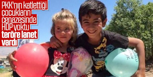 Terör kurbanı çocuklara veda
