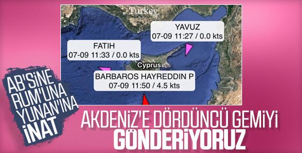 Türkiye Doğu Akdeniz'e dördüncü gemiyi gönderecek