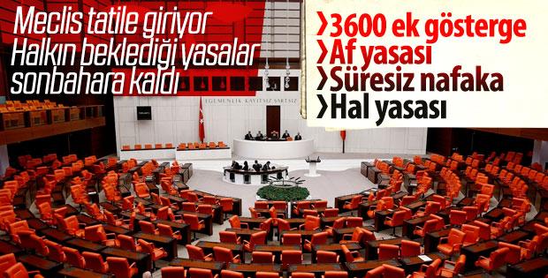 Meclis cuma günü tatile girecek