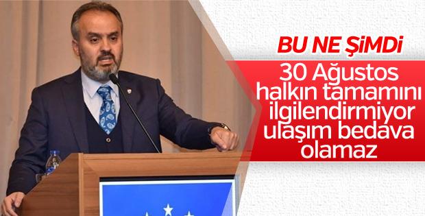 Bursa Belediye Başkanı Aktaş'ın 30 Ağustos açıklaması