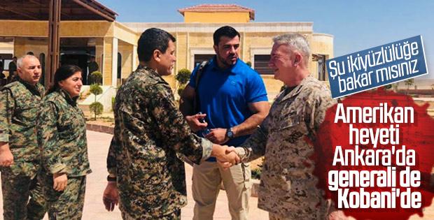 ABD'li general YPG/PKK elebaşıyla bir arada