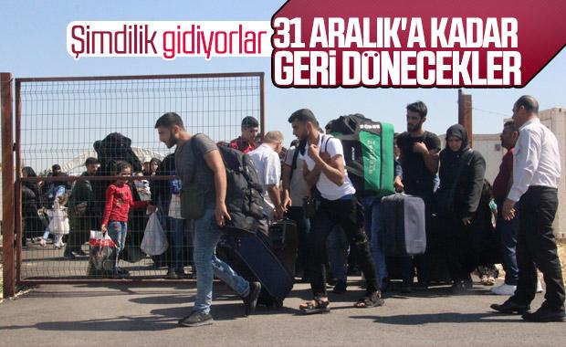 Suriyeliler Kurban Bayramı için ülkelerine gidiyor