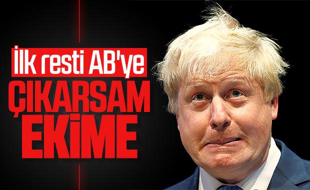 Boris Johnson'ın ilk açıklaması