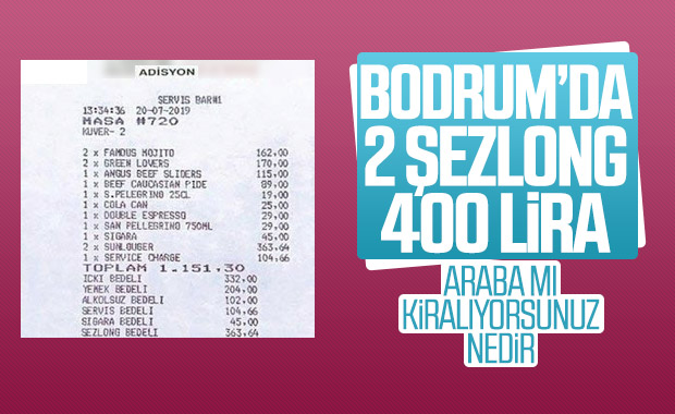 Bodrum'da şezlong kiralama fiyatları uçtu