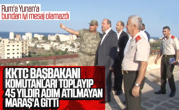 KKTC Başbakanı hayalet şehir Maraş'ta